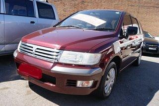 1999 Mitsubishi Nimbus UG Burgundy 4 Speed Automatic Wagon.