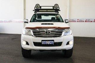 2012 Toyota Hilux KUN26R MY12 SR5 (4x4) Glacier White 5 Speed Manual X Cab Pickup.