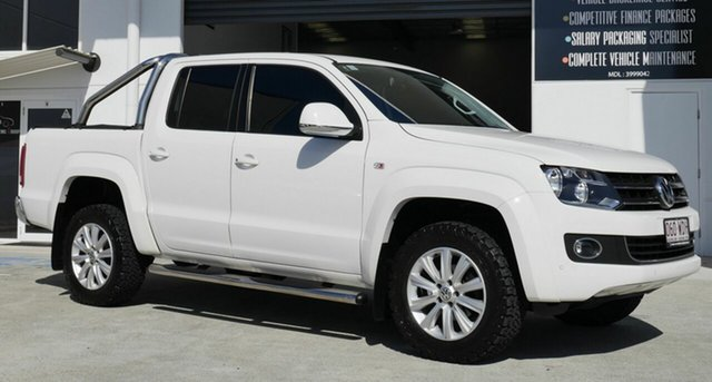 Used Volkswagen Amarok 2H MY16 TDI420 4Motion Perm Highline Capalaba, 2015 Volkswagen Amarok 2H MY16 TDI420 4Motion Perm Highline White 8 Speed Automatic Utility