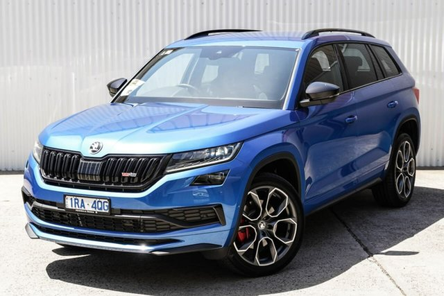 Used Skoda Kodiaq NS MY20 RS DSG Seaford, 2019 Skoda Kodiaq NS MY20 RS DSG Blue 7 Speed Sports Automatic Dual Clutch Wagon
