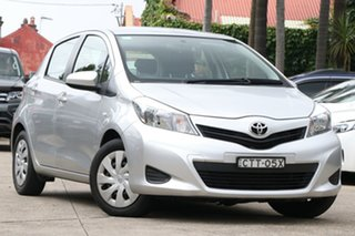 2014 Toyota Yaris NCP131R YRS Silver Pearl 4 Speed Automatic Hatchback.