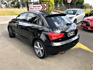 2012 Audi A1 8X MY13 Attraction Sportback S Tronic Black 7 Speed Sports Automatic Dual Clutch
