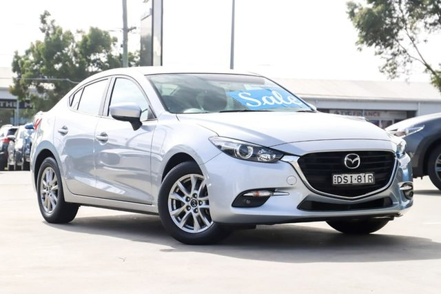 Used Mazda 3 BN5278 Maxx SKYACTIV-Drive Kirrawee, 2017 Mazda 3 BN5278 Maxx SKYACTIV-Drive Silver 6 Speed Sports Automatic Sedan