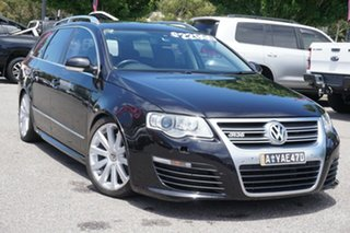 2009 Volkswagen Passat Type 3C MY09 R36 DSG 4MOTION Black 6 Speed Sports Automatic Dual Clutch Wagon.