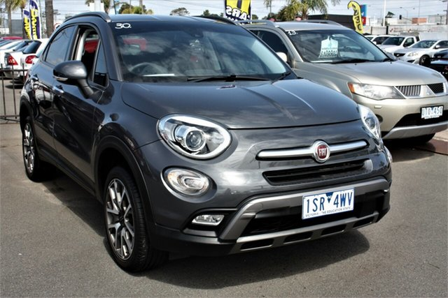 Used Fiat 500X 334 Cross Plus AWD Cheltenham, 2017 Fiat 500X 334 Cross Plus AWD Grey 9 Speed Sports Automatic Wagon