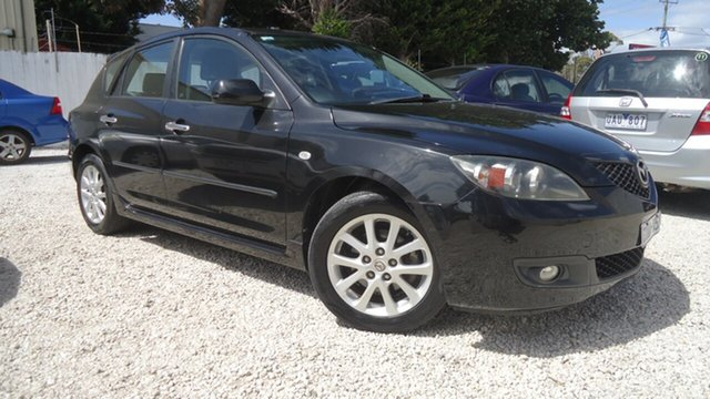 Used Mazda 3 BK10F2 MY08 Maxx Sport Seaford, 2008 Mazda 3 BK10F2 MY08 Maxx Sport Black 4 Speed Sports Automatic Hatchback