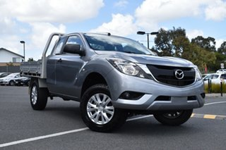 2016 Mazda BT-50 UR0YG1 XT Freestyle 4x2 Hi-Rider Billet Silver 6 Speed Manual Cab Chassis.