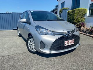 2015 Toyota Yaris NCP130R Ascent Silver Metallic 4 Speed Automatic Hatchback.