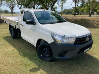 2019 Toyota Hilux TGN121R Workmate 4x2 Glacier White 6 Speed Sports Automatic Cab Chassis.
