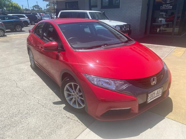 Used Honda Civic 9th Gen VTi-S Hillcrest, 2012 Honda Civic 9th Gen VTi-S Red 6 Speed Manual Hatchback