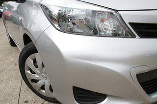 2014 Toyota Yaris NCP131R YRS Silver Pearl 4 Speed Automatic Hatchback
