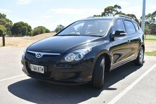 2011 Hyundai i30 FD MY11 SX cw Wagon Black 4 Speed Automatic Wagon