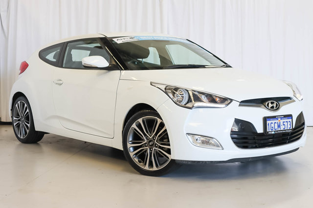 Used Hyundai Veloster FS4 Series II Coupe Wangara, 2016 Hyundai Veloster FS4 Series II Coupe White 6 Speed Manual Hatchback