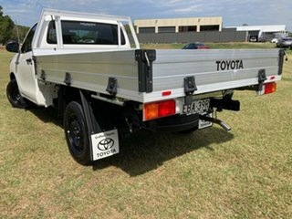 2019 Toyota Hilux TGN121R Workmate 4x2 Glacier White 6 Speed Sports Automatic Cab Chassis