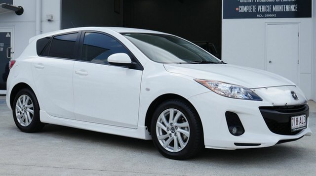 Used Mazda 3 BL10F2 MY13 Maxx Activematic Sport Capalaba, 2013 Mazda 3 BL10F2 MY13 Maxx Activematic Sport White 5 Speed Sports Automatic Hatchback