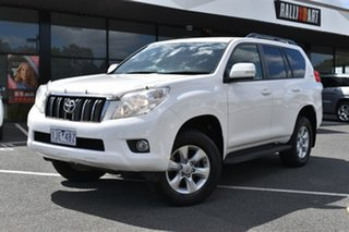 2013 Toyota Landcruiser Prado KDJ150R GXL White 5 Speed Sports Automatic Wagon.