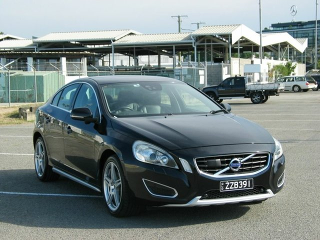Used Volvo S60 F MY14 T6 R-Design Albion, 2014 Volvo S60 F MY14 T6 R-Design Black 6 Speed Automatic Sedan
