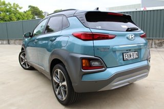 2020 Hyundai Kona OS.3 MY20 Highlander D-CT AWD Ceramic Blue & Black Roof 7 Speed.