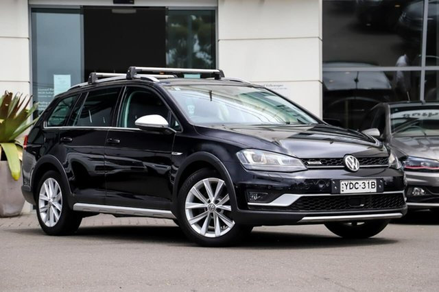 Used Volkswagen Golf VII MY16 Alltrack DSG 4MOTION 132TSI Sutherland, 2015 Volkswagen Golf VII MY16 Alltrack DSG 4MOTION 132TSI Deep Black Pearl Effect 6 Speed