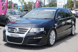 2009 Volkswagen Passat Type 3C MY09 R36 DSG 4MOTION Black 6 Speed Sports Automatic Dual Clutch Wagon
