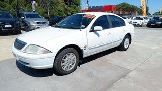 2001 Ford Fairmont AU II White 4 Speed Automatic Sedan.