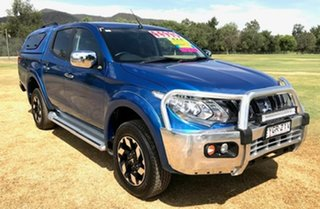 2017 Mitsubishi Triton MQ MY17 Exceed Double Cab Blue 5 Speed Sports Automatic Utility.