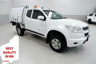2014 Holden Colorado RG MY14 LX Space Cab White 6 Speed Sports Automatic Cab Chassis.