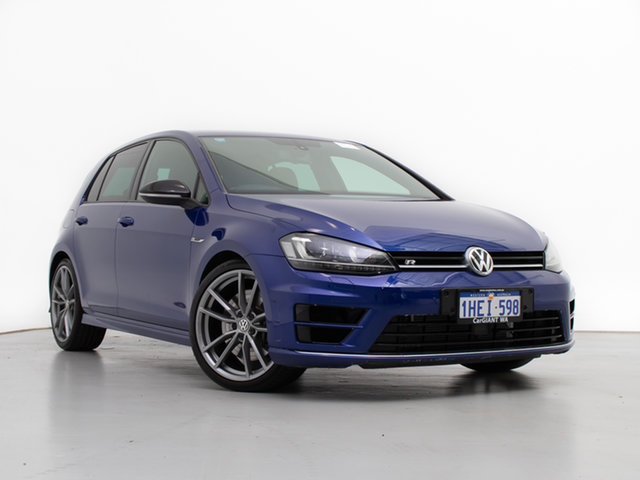 Used Volkswagen Golf AU MY16 R Wolfsburg Edition, 2015 Volkswagen Golf AU MY16 R Wolfsburg Edition Blue 6 Speed Direct Shift Hatchback