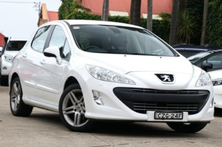 2010 Peugeot 308 Sportium White 6 Speed Automatic Hatchback.