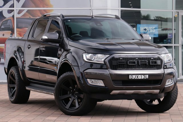 Used Ford Ranger PX MkII Wildtrak Double Cab Warwick Farm, 2016 Ford Ranger PX MkII Wildtrak Double Cab Black 6 Speed Sports Automatic Utility