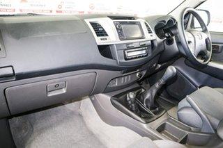 2012 Toyota Hilux KUN26R MY12 SR5 (4x4) Glacier White 5 Speed Manual X Cab Pickup