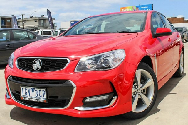 Used Holden Commodore VF II MY16 SV6 Coburg North, 2016 Holden Commodore VF II MY16 SV6 Red 6 Speed Sports Automatic Sedan