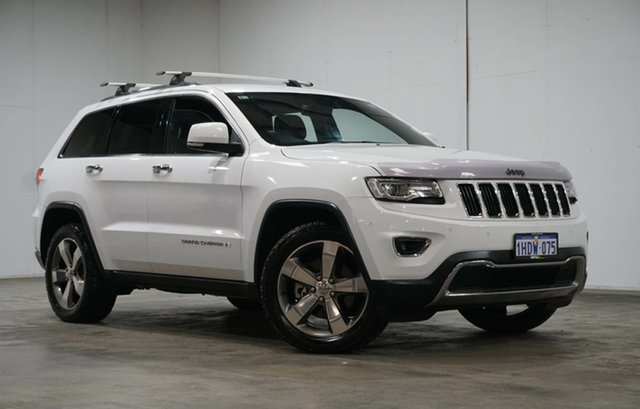 Used Jeep Grand Cherokee WK MY15 Limited Welshpool, 2015 Jeep Grand Cherokee WK MY15 Limited Bright White 8 Speed Sports Automatic Wagon
