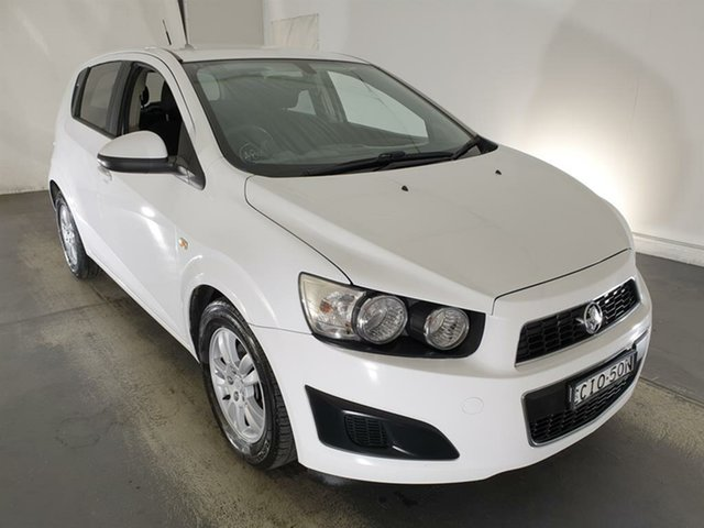Used Holden Barina TM Maryville, 2012 Holden Barina TM White 5 Speed Manual Hatchback