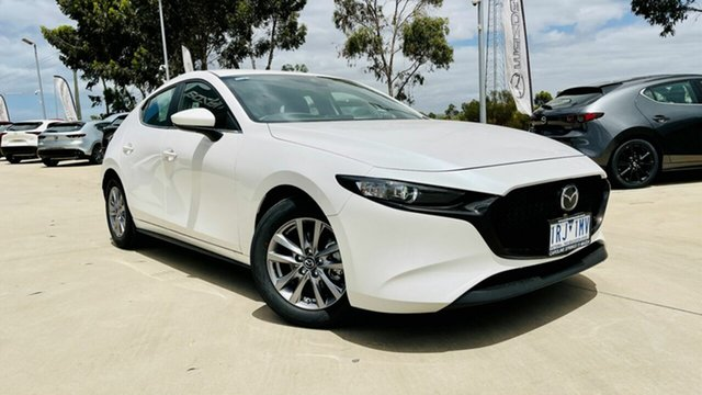 Demo Mazda 3 BP2H7A G20 SKYACTIV-Drive Pure Ravenhall, 2020 Mazda 3 BP2H7A G20 SKYACTIV-Drive Pure Snowflake White Pearl 6 Speed Sports Automatic Hatchback