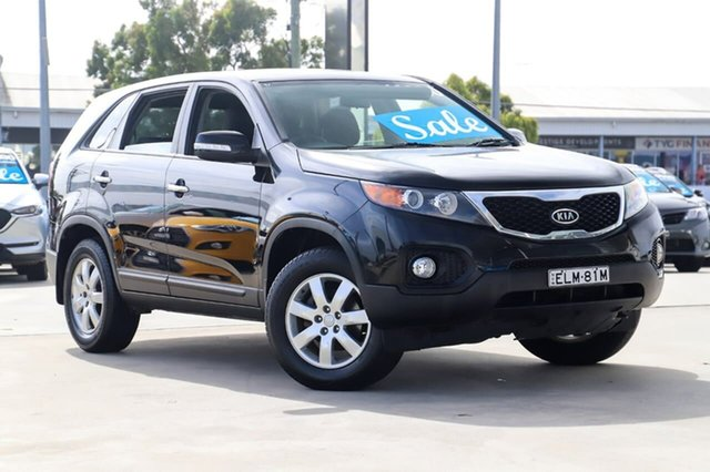Used Kia Sorento XM MY12 SI Kirrawee, 2012 Kia Sorento XM MY12 SI Black 6 Speed Sports Automatic Wagon