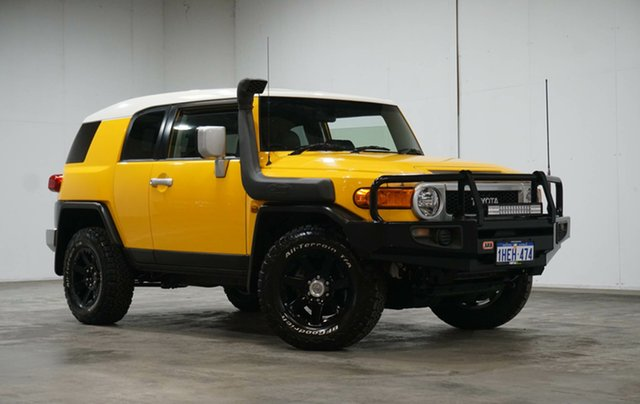 Used Toyota FJ Cruiser GSJ15R MY14 Welshpool, 2016 Toyota FJ Cruiser GSJ15R MY14 Yellow 5 Speed Automatic Wagon