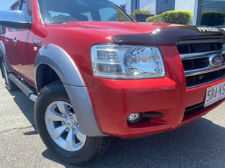 2007 Ford Ranger PJ XLT Crew Cab Red 5 Speed Automatic Double Cab Pick Up.