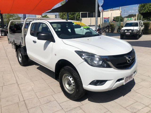 Used Mazda BT-50 UR0YG1 XT Freestyle 4x2 Hi-Rider Mundingburra, 2017 Mazda BT-50 UR0YG1 XT Freestyle 4x2 Hi-Rider White 6 Speed Manual Cab Chassis