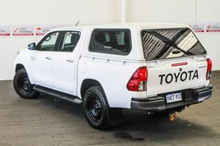 2016 Toyota Hilux GUN126R SR Double Cab Glacier White 6 Speed Manual Cab Chassis.