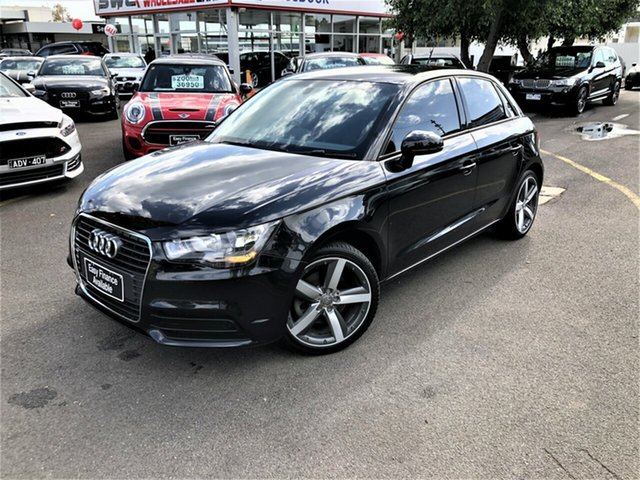 Used Audi A1 8X MY13 Attraction Sportback S Tronic Seaford, 2012 Audi A1 8X MY13 Attraction Sportback S Tronic Black 7 Speed Sports Automatic Dual Clutch