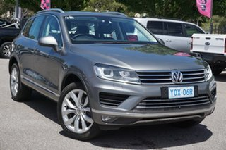 2016 Volkswagen Touareg 7P MY17 V6 TDI Tiptronic 4MOTION Grey 8 Speed Sports Automatic Wagon.