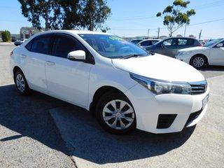 2016 Toyota Corolla ZRE172R Ascent S-CVT White 7 Speed Constant Variable Sedan.
