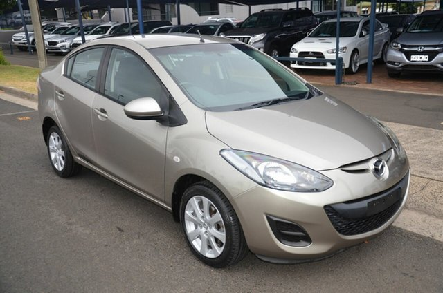 Used Mazda 2 DE MY10 Maxx Toowoomba, 2010 Mazda 2 DE MY10 Maxx Gold 4 Speed Automatic Sedan