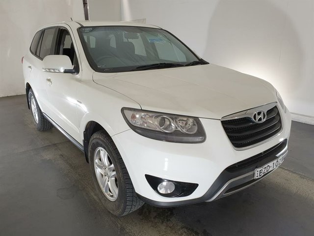 Used Hyundai Santa Fe CM MY12 SLX Maryville, 2011 Hyundai Santa Fe CM MY12 SLX White 6 Speed Sports Automatic Wagon