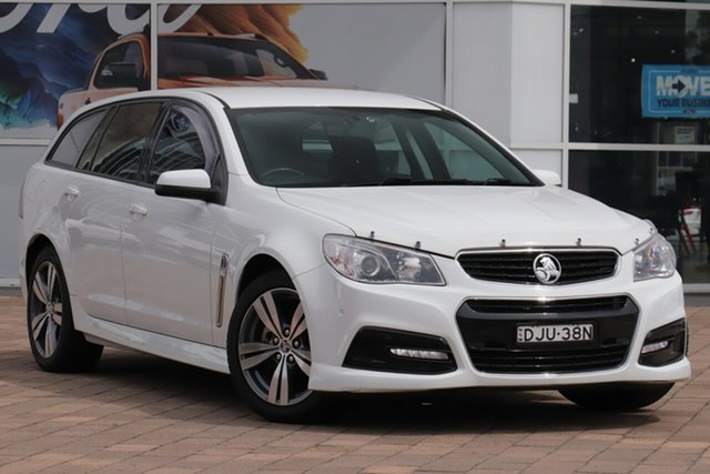 Used Holden Commodore VF MY14 SV6 Sportwagon Warwick Farm, 2014 Holden Commodore VF MY14 SV6 Sportwagon White 6 Speed Sports Automatic Wagon