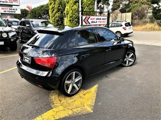2012 Audi A1 8X MY13 Attraction Sportback S Tronic Black 7 Speed Sports Automatic Dual Clutch.