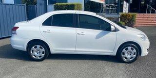 2015 Toyota Yaris NCP93R YRS White 4 Speed Automatic Sedan.
