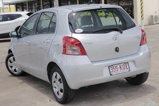 2007 Toyota Yaris NCP90R YR Silver 4 Speed Automatic Hatchback.