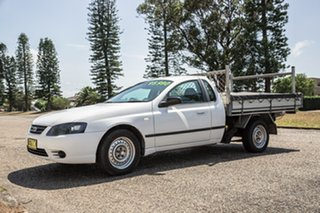 2008 Ford Falcon BF Mk II XL Super Cab White 4 Speed Sports Automatic Cab Chassis.